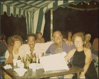 Buck Clayton enjoying a few drinks with friends