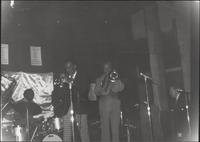 Jackie Williams, Buck Clayton, Dicky Wells and an unidentified pianist perform