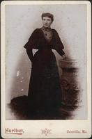 Woman in long dark dress