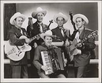 Texas Rangers five-member group portrait
