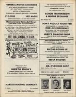 Back cover of Country and Western Round Up program