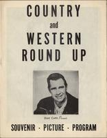 Cover page of Country and Western Round Up program