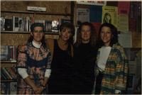Holly Near with Anne Shelley, Cheryl Berge and another woman