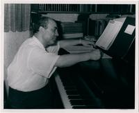 Paul Creston at the piano