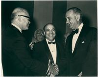Paul Creston and composers with Lyndon B. Johnson
