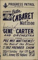 Gigantic Easter Cabaret Matinee featuring Gene Carter and Orchestra