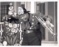 "Publicity still of Louis Armstrong in ""Swingin' the dream"""
