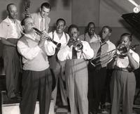 Barney Bigard and musicians rehearsing