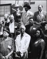 Sonny Kenner, Luqman Hamza, Rusty Tucker, Everette DeVan, Roy Searcy, King Alex, Lawrence Wright, Linda Shell and others at the Mutual Musicians Foundation