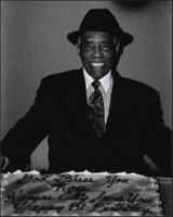 Roy Searcy and his cake