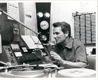 Chuck Cecil in radio station booth