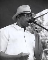 Tommy Soul Williams at the Kansas City Kansas Street Blues Festival 2002