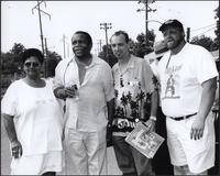 Marvine McKeithen, Otis Clay, Roger Naber, Dawayne Gilley at the Kansas City Kansas Street Blues Festival 2002