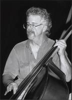 Phil Smith playing a double bass