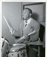 Kenny Clarke playing drums
