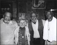 Sherman Holmes, Evie Quarles, Wendell Holmes, and Dixon at the Grand Emporium