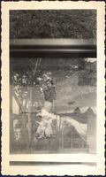 unidentified man and woman in a multiple exposure photograph