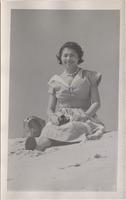 unidentified woman on the beach