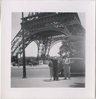 Leon and Orchid Jordan in front of the Eiffel Tower