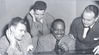 Dave Dexter, John Hammond, Count Basie, and Sonny Burke