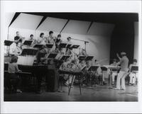 Jimmy Cheatham directing the UCSD Jazz Ensemble
