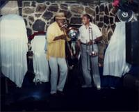 Jimmy Cheatham with fellow trombonist