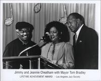 Mayor Tom Bradley and the Cheathams