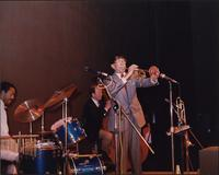 Doc Cheatham playing trumpet