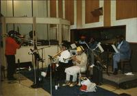 Jimmy Cheatham and others during a recording session