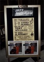 Sign advertising upcoming shows at the Jazz Showcase