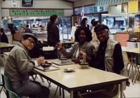 Jeannie and Jimmy Cheatham eating at a restaurant in Japan