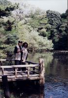 Jimmy and Jeannie Cheatham by a pond