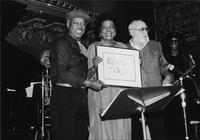 Jeannie and Jimmy Cheatham receiving an award