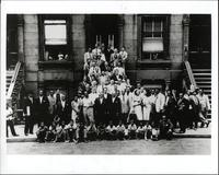 Group photo in Harlem, New York City