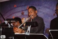 Nolan Shaheed playing trumpet