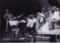 Jimmy Cheatham leading the UCSD Jazz Band