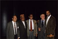 Sonny Kenner, Ahmad Alaadeen, Billy Taylor, Dooley Weilert, and Leonard Brown at the Charlie Parker Symposium