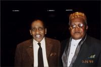 Milt Jackson and Ahmad Alaadeen during the Charlie Parker Symposium