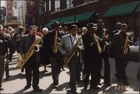 Street procession during the Charlie Parker Symposium