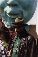 "Bobby Watson at the dedication of the Charlie Parker Memorial (""Bird Lives"")"