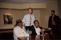 Ahmad Alaadeen, Joe Wilcox, and Jay McShann relax at the Plaza III