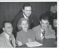 Woody Herman, Margaret Whiting, Gene Norman, and Dave Dexter