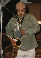 Ahmad Alaadeen recording in Kansas City, MO