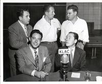 Al Jarvis, Andy Russell, Art Linkletter, Johnny Mercer, and Dave Dexter