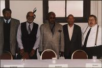 Frank Smith, Luqman Hamza, Ahmad Alaadeen, Sonny Kenner, and Russ Long during a panel discussion