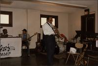 Hamza Luqman, LaVerne Barker, and Ahmad Alaadeen rehearse at Mutual Musicians Foundation