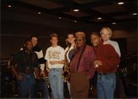 Ahmad Alaadeen among a group of UMKC Jazz Studies students