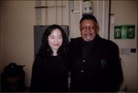 Helen Sung and Ahmad Alaadeen during the T.S. Monk concert series
