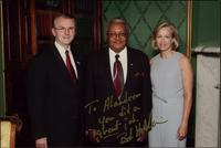 Governor Bob Holden, Ahmad Alaadeen, and Lori Hauser Holden pose for a photograph