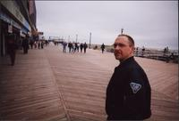 Man on the boardwalk